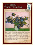 Letter from Vincent: Vase with Irises
