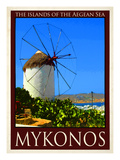 Windmill in Mykonos Greece 2