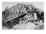 German Sappers and Engineers Rebuild Bridge at Lemberg