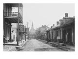 Sole Pedestrian in New Orleans's Street