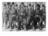 Turkish Infantry with Fez's and Rifles in Formation