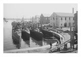 Us Torpedo Boats in the Wet Dock  Norfolk Navy Yard  Va