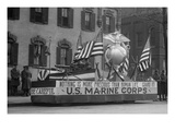 Us Marine Corps Parade Float Emphasizing Recruitment