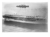 Langley Aircraft Carrier at Sea