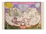 Novus Planiglobii Terrestris Per Utrumque Polum Conspectus; Stereographic Map of the World