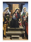 Madonna and Child Enthroned with Saints  Altarpiece