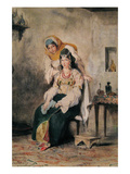Saada  the Wife of Abraham Benchimol  and Préciada  One of their Daughters  1832
