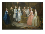 The Wedding of Stephen Beckingham and Mary Cox  1729 (Detail)