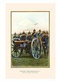 Nassau Regiment Field Artillery Firing its Cannon