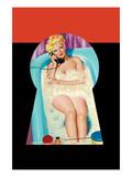 Whisper Magazine; Bubble Bath Reproduction d'art par Peter Driben