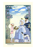 Elizabethan England Reproduction d'art par Georges Barbier