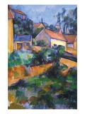Turning Road at Montgeroult Reproduction d'art par Paul Cézanne