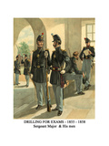 Drilling for Exams - 1855 - 1858 - Sergeant Major and His Men