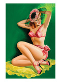 Flirt Magazine; Pinup with Hat