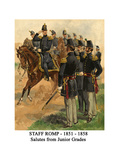 Staff Romp - 1851 - 1858 - Salutes from Junior Grades