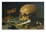 Still Life with a Skull and a Writing Quill  1628