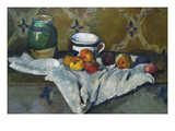 Still Life with Cup  Jar and Apples