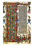 Genesis Initial Letter; Wenceslas Bible