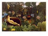 Le rêve Reproduction d'art par Henri Rousseau