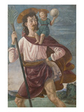 Saint Christopher and the Infant Christ Mural