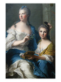 Madame Marsollier and Her Daughter  1749