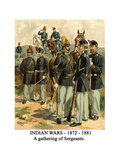 Indian Wars - 1872 - 1881 - a Gathering of Sergeants