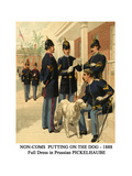 Non-Coms Putting on the Dog - 1888 - Full Dress in Prussian Pickelhaube