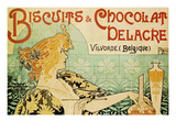 Biscuits and Chocolate Delcare Reproduction d'art par Alphonse Mucha
