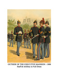 Outside of the Executive Mansion - 1888 - Staff and Artillery in Full Dress