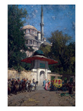The Mosque of Sultan Achmet  Constantinople