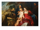 The Holy Family with Saints Francis and Infant St John the Baptist