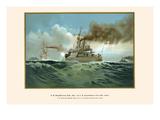 """HM 4th Class Battleship """"Aegir"""" and HM 3rd Class Protected Cruiser Gesion"""""""