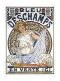 Bleu Dsechamps Sold Here Reproduction d'art par Alphonse Mucha