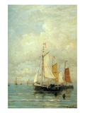 A Moored Fishing Fleet