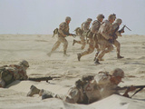 Saudi Arabia Army US Forces Maneuver Exercise Kuwait Crisis