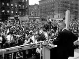 Malcolm X Harlem Rally Papier Photo