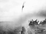 WWII Kamikaze Aims USS Sangamon