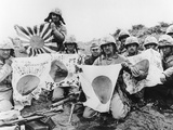 WWII US Marines Capture Flags