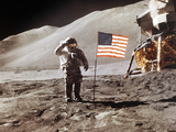 Apollo 15 Moonwalk 1971 Papier Photo