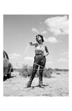Elizabeth Taylor with Lasso