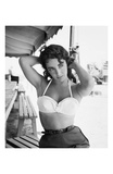 Elizabeth Taylor with Hands Behind Head