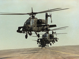 Saudi Arabia Army US Forces Apache Assault Helicopters Kuwait Crisis