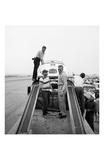 James Dean Standing with Porsche