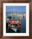 Fishing Boat Moored in the Harbour at Ajaccio  Island of Corsica  France  Mediterranean  Europe