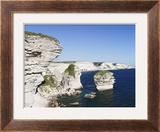 Limestone Cliffs on the Coast  Grain De Sable  Bonifacio  Corsica  France