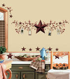 Country Stars & Berries Peel & Stick Wall Decals