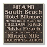 Miami Landmarks Typography
