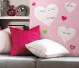 Heart Notepad Dry Erase Peel & Stick Wall Decals