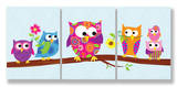 Polka Dot & Stripe Owls Trip Set