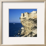 Haute Ville on Cliff Edge  Bonifacio  South Corsica  Corsica  France  Mediterranean  Europe